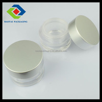 15g/30g/50g classic new Aluminum Cap with Acrylic Jar for cosmetic packaging