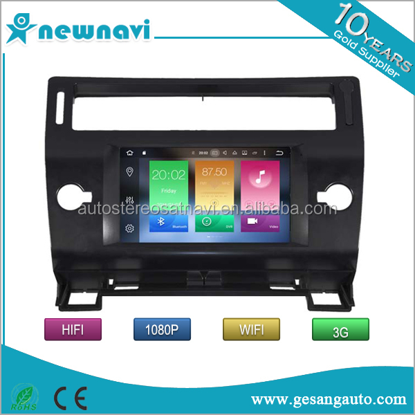 Octa core Auto android 6.0 in dash car dvd player with GPS navigation for Citroen C4 2004-2012