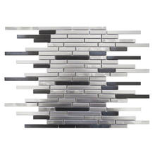 hairline silver stainless steel mosaic tile-- metal mosaic