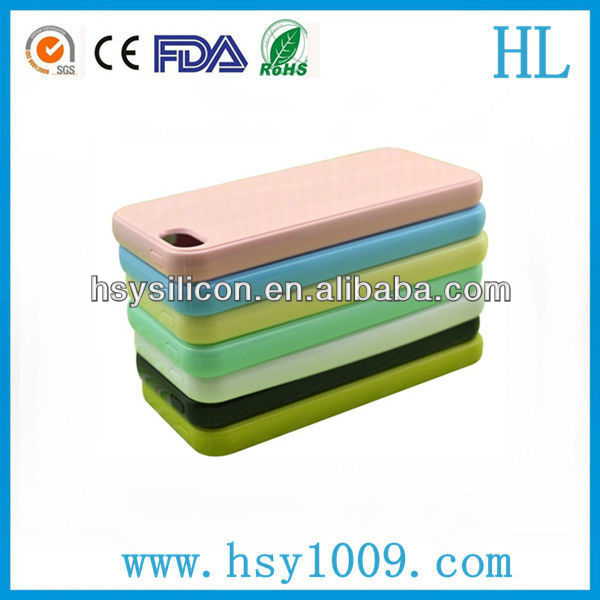 customized fashion silicone gel cell phone case with CE FDA RoHS