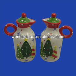 christmas oil and vinegar cruet sets