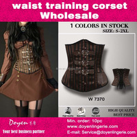gothic style bustier & corsets Grand brown Steampunk Leather Clasp underbust corset for women corselet