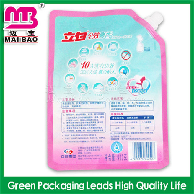 decorative laundry bleaching liquid pouches