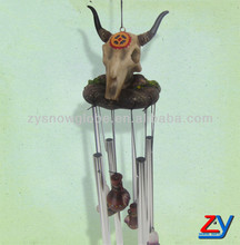 Resin outdoor sheep head wind chime