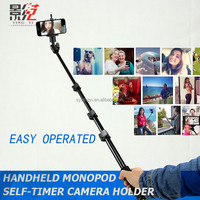 Self timer monopod with phone holder for Digital Camera and iPhone 4 4S 5 5C 5S Samsung S3 S4 Note 2 Note 3