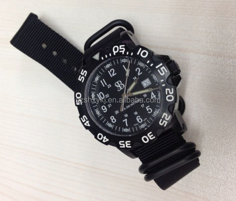 Waterproof 10 ATM Japanese Movt Army Nylon Watch Strap Military Watch