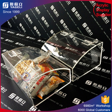 Clear acrylic candy box cookie boxes clear plastic containers cupcake display case acrylic wholesale