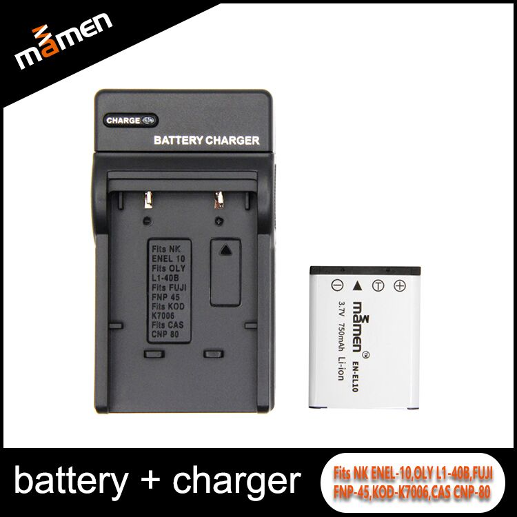 High Quality Full Decode Digital Camera Battery + Battery Charger EN-EL10 For Olympus