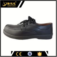 black low-cut microfiber leather upper PU injection security boots