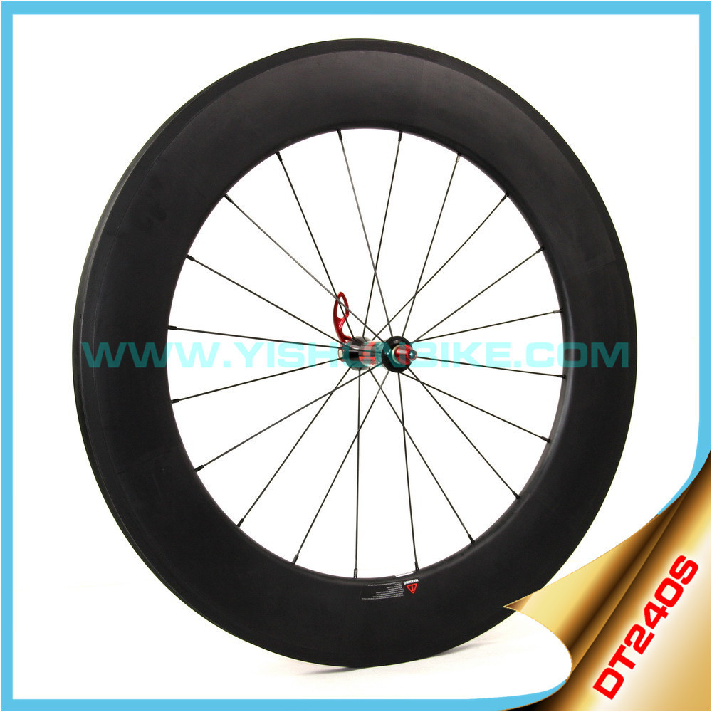 2016 YISHUNBIKE 88mm clincher carbon bike wheel front and rear 240s hub Sapim cx-ray spokes road bike wheelset 240S-880C