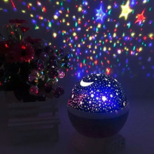 Christmas Kids Bedsides Led Star Moon Lamp with USB cable for Children baby 360 degree wedding romantic night light projector