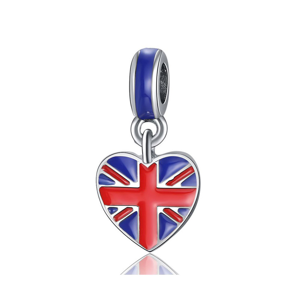 British Flag <strong>Charm</strong>, European Style United Kingdom Union Jack Flag <strong>Charm</strong> For Bracelet Making