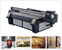 Large format Ceiling Art Glass/Frameless draw printing,digital UV Flatbed printer best price for sale