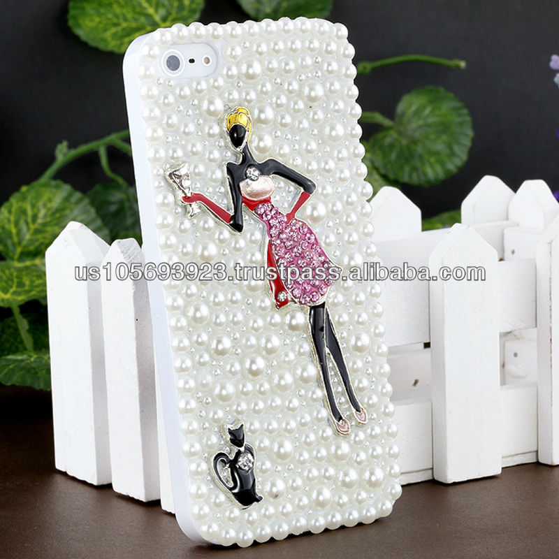 IMPRUE Beauty Design 3D Pearl Case Cover For Apple Iphone5 With Retailer Package