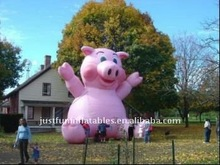 inflatable huge advertising pink pig, huge inflatable pig for advertising
