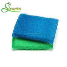 Disposable scrub foam plastic nylon wire antibacterial kitchen cleaning sponge