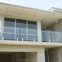 Stainless Steel Spigot Glass Clamp / Balcony Frameless Glass Railing Systems