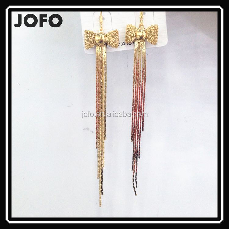 Exquisite Hook Bow Chain Wholesale Tassel Earring