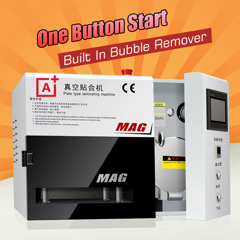 A+ KO MAG Vacuum OCA lamination machine built in bubble remove lcd screen separator spare parts oca film glue repair