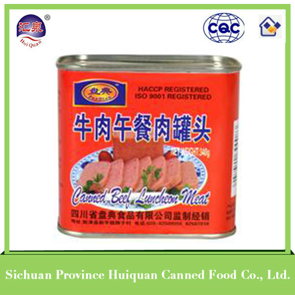 Hot china products wholesale canned beef/canned corned beef canned halal food 340g