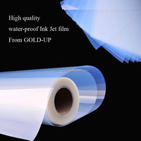 Hot sell PET Water-proof Inkjet printing film from Shanghai Gold-up for screen printing
