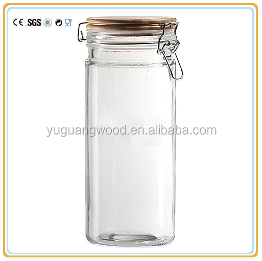 Home high quality 400ml airtight jars glass with lid