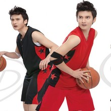 new style men's basketball jersey uniform ,dri fit sports suits for school boy