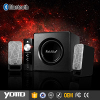 YOMMO 2.1 ch wireless super bass speaker Bluetooth bass speaker system with control box
