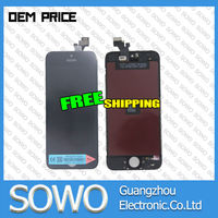 2016 hot sale!!! mobile phone lcd for iphone 5, for iphone 5 lcd touch screen digitizer