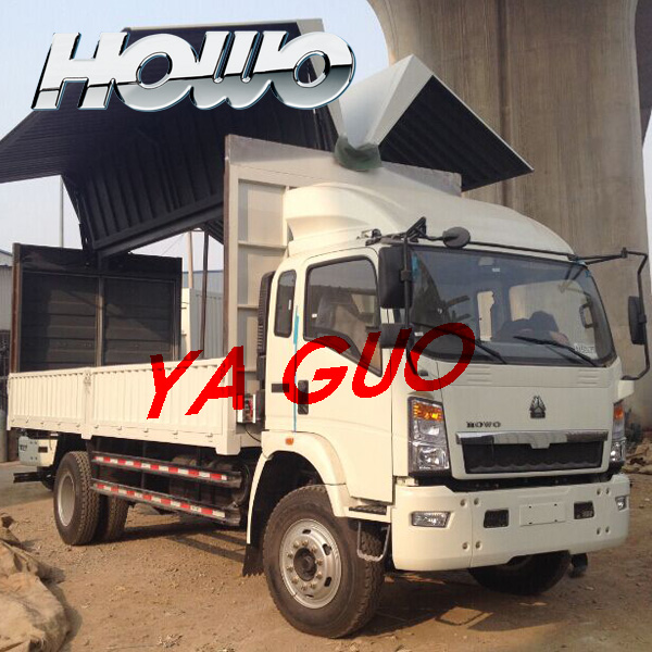SINOTRUK HOWO 4X2 DIESEL FUEL TYPE WING VAN TRUCK FOR SALE