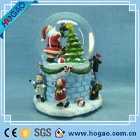 Glass christmas decoration christmas santa claus snow globe for home decor