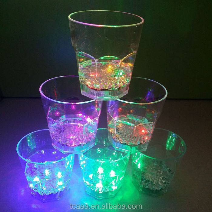 Advertising supplier color changing ROHS CE led luminous wine glass