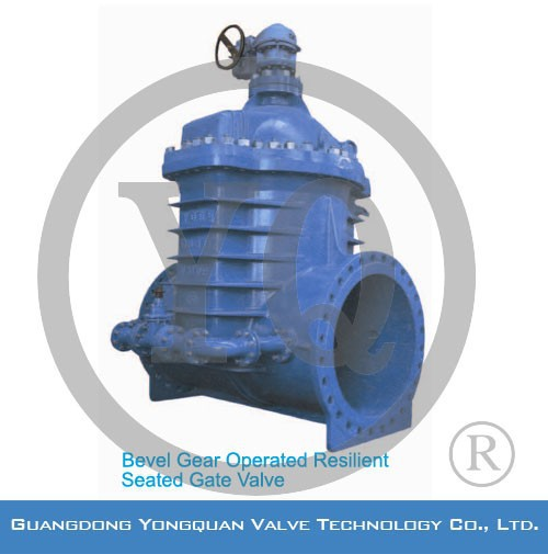 Bevel Gear Operated Hydraulic Gate Valve, DN 400-1400mm, PN 1.0/1.6MPa