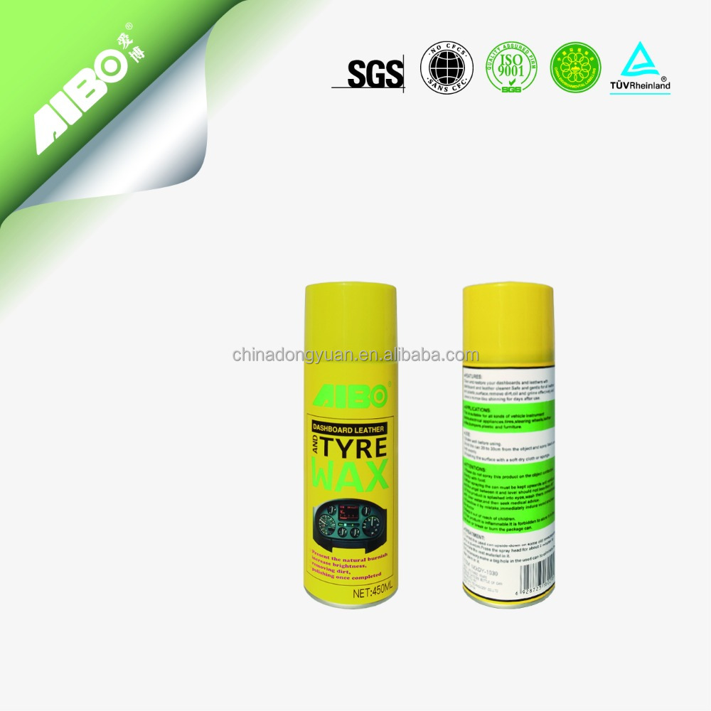 Hot Sell Dashboard leather and tyre wax spray