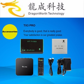 hot selling TX3 PRO android 6.0 kd player 16.1 S905x 1G 8G linux os dual boot TV BOX