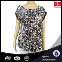 Fashion Style Custom Neck Women Chiffon Top blouse