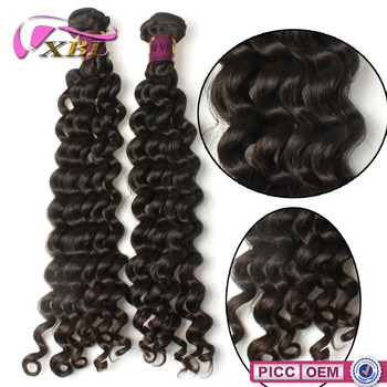 Full Ends Virgin Natural Color Deep Wave XBL 10A Grade Brazilian Hair