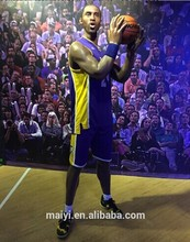 Artificial Life Size Wax Museum Celebrity Figure Kobe Bryant Waxwork Factory Customized