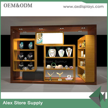 Manufacturer Glass Jewellery Showcase Wall Display Shelf Of Jewelry Store Decoration