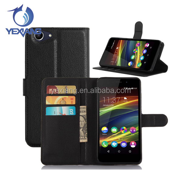 Best Selling Lichi PU Cell Phone Case For Wiko Slide 2 Flip Cover Leather Case