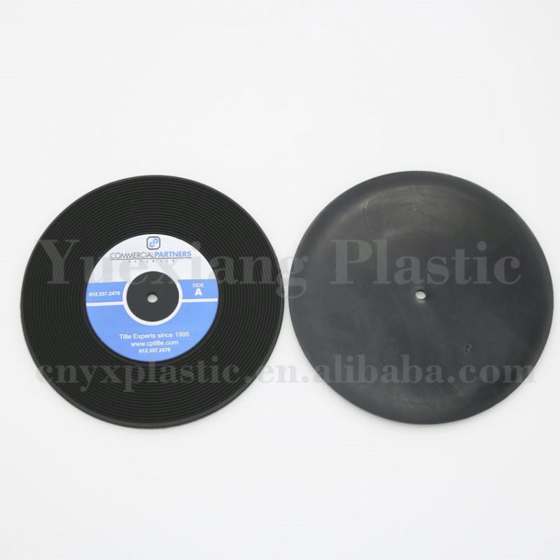 plastic floppy rubber vinyl disk coaster photo gifts coasters for souvenir gifts