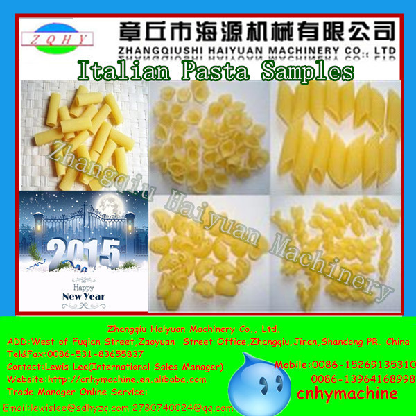 Haiyuan 80-120kg/h CE Certificated Commercial Pasta Machine / Pasta Making Plant