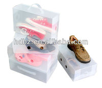 hot sell plastic shoe form shoe boxes