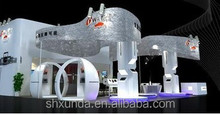 Beautiful exhibition booth design & fabrication