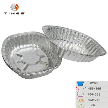 8200ml Aluminum disposable roasting pan, foil food container
