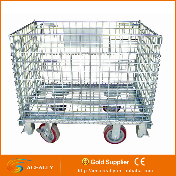 Dog Storage Wire Cage with Wheel