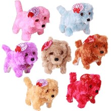 Promotional plush electric dog toys, walking and singing dog toys for kids