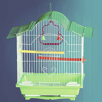 foldable steel wire metal bird cages, bird nest, bird breeding house for parrot