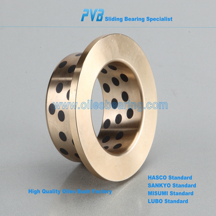 JDB-50 flange solid bronze bearing,casted oliite copper alloy bushing,CuSn12 high strength guide bush