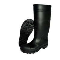 high quality shoes factory men's PVC high gun boots with steel toes steel cap safety boots